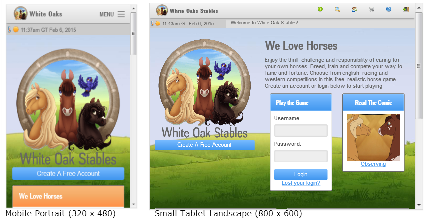 A responsive design adjusts as the screen size changes.